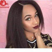 360 Frontal Full Encaje Pelucas de cabello humano Pelucked con pelos para bebés Italiano Yaki Kinky recto Virgen Remy peruano Lacefront 360 Wig barato