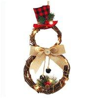 زينة عيد الميلاد الصمام ثلج اكليلا منزل الديكور المنزل الروطان الدائري