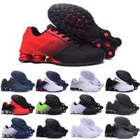 Shox 809 803 R4 New Air Entregar 809 TN Almofada Running Shoes Triplo Preto Branco Mulheres Sports Trainers Men respirável ao ar livre Tênis Athletic 40-46 G52
