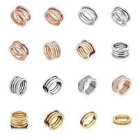 BVL Anello a molla originale; Etichetta classica 1: 1; anello in lega alla moda; non svanisce; Anelli maschili e femminili 0126