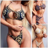 New Arrival Women Lace Up Bikini Set Hollow Out Swimsuit Bikinis Set Bathing Suit Ready To Ship