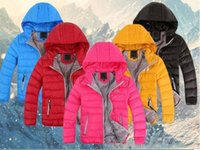 2020 Neue Kinder Oberbekleidung Junge und Mädchen Winter Warme Mit Kapuze Mantel Kinder Baumwolle-gepolsterte Daunenjacke Kid Jacken 3-12 Jahre