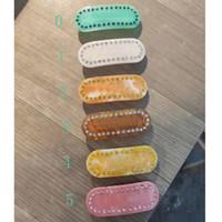 Clip di capelli multicolore con strass con timbro Donne Lettera Briottes Moda Accessori per capelli per il regalo di alta qualità