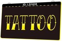 LS1635 Tattoo Shop Bar Pub Art Piercing 3D-Gravur LED-Lichtzeichen Großhandel Einzelhandel