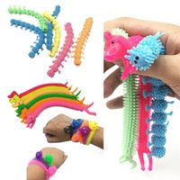 Nya färgglada leksaker elastiska tpr unzip rep mask caterpillar barn trick dekompression leksak barn prank leksaker