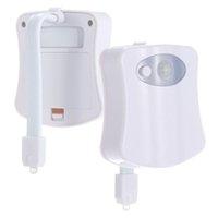Haoxin LED Klozet Gece Lambası Hareket Sensörü WC Işık 8/16 Renkler Değiştirilebilir Lamba Klozet Çocuğu için Powered Arka Işık