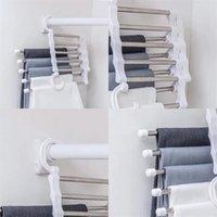 5 слоев растяжек брюки стойки Складная многофункциональная функция из нержавеющей стали вешалка одежда без скольжения стенд бесплатная доставка 4HD F2
