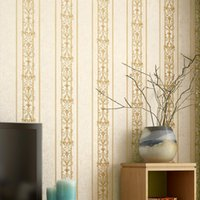 European Style 3D Stereoscopic Vertical Stripes Wall Paper Roll 3D Mural PVC Waterproof Wallpapers Living Room Contact Paper