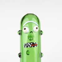 2021 Cucumber Glass Pipes Handmade Pyrex Smoking Pipe High Quality Funny Bong Smok Accessories Beautiful Hand