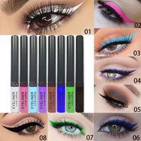 8 / 12pcs / Set Eye-liner liquide crayon Lapiz Delineador Ojos Colorres Colorido Permanente Crayon Maquillage Doublure Crayon de maquillage Yeux