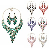 Bridal Jewelry Sets Wedding Necklace Earring Set Women Party...