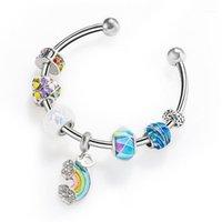 Neue Mode Schlange Kette Link Armband Fit Perlen Armband Europäischen Charme für Frauen DIY Schmuck Machen1