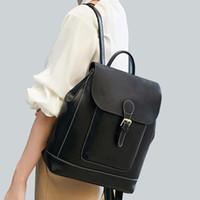 진짜 소 가죽 배낭 학생 학교 daypack 단일 어깨 가방 패션 여행 가방 배낭 정품 가죽 여성 배낭