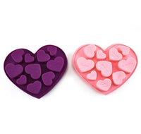 실리콘 초콜릿 금형 심장 모양 영어 편지 케이크 초콜릿 금형 실리콘 얼음 트레이 젤리 금형 비누 베이킹 금형 W112