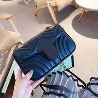 2020 Moda de lujo diseñador de la marca Classic Wallet Handbag de cuero genuino Señoras de alta calidad Hombro de cuero suave Bolsa de hombro Fannypack