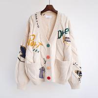 Женщины Дизайнеры Одежда 2020 Женщины Стулки Зимний Кадиган Кашемира Смеси мода Женщины Высококачественные свитер 3 цвета уличные