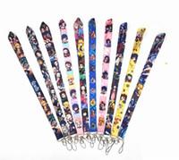 도매 10pcs 인기 만화 애니메이션 소년 소녀 사랑 휴대 전화 끈 열쇠 고리 펜던트 파티 선물 호의 # 003