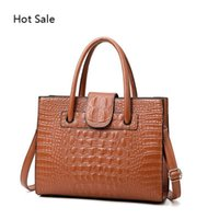 Feminino Top-handle sacos de mão das mulheres Vintage Bolsas Jacaré PU bolsas de couro Shoulder Sac à main