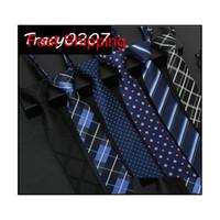 Горячая мужская галстука 100% шелковые галстуки классические мужчины бизнес формальный свадебный галстук 5см полосатый молния легкий вытащить галстук f qylqnu nana_shop