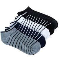 5 цветов мужчин носок 5 пар = 10 шт. / Лот пакет мужского летнего света носки полоса хлопок короткий носок оптом пары носки продажа