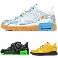 OFF 고무 덩크 그린 스트라이크 대학 골드 대학 파란색 신발을 실행 (상자 내에서) 남성 여성 Zapatos 디자이너 운동화 US7-11