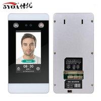 Dispositivo de controle de acesso de reconhecimento de face dinâmico TCP IP Wi-Fi 4,3 polegadas Sistema de tela de toque cartão de perfuração facial HD Camera atendance1