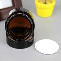 Tarro de crema de cristal de ámbar marrón Tapa negra 515 30 50 100g Tarro cosmético Embalaje Embalaje Cream 236 J2