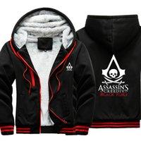 Assassin MasterThick Cappotto Outwear Viderburco maschile caldo felpe con cappuccio Uomo Spessore Camouflage Manica Causa Giacca da uomo invernale