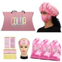 Conjunto de peluca de logotipo personalizado Paquete de cabello virginal Paquete de bolsas de satén / bolsas de satén / etiqueta de colgar / envolturas / bonetes / hazband1