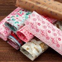 50 pçs / set Feliz Natal embalagem de papel de cera de papel impermeável bolo de macarrão macarrão de macarrão à prova de envoltório de folha de envoltório do bolo 1