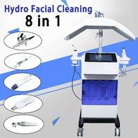 Microdermabrasion Diamond Skincare Hydra Machine faciale avec lampe de lumière LED Masque de visage pour l'acné AMÉLIORATION Dispositif de soin de la peau de blanchiment de la peau