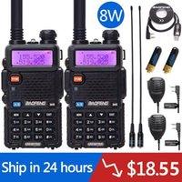 2 pcs Baofeng UV-5R 8W Alta Poderoso 10km VHF / UHF Longa Radio Walkie Talkie Portable Radio Pofung UV5R para Hunting1