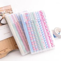 Penne in gel (10 pezzi / lotto) colore penna kawaii cancelleria coreano flower canetas escolar papelaria regalo ufficio materiale materiale materiale scolastico1