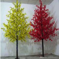 Рождественские украшения 1152PCS Светодиодные лампочки Вишневый Blossom Свет дерева 2М 6.5 футов Высота Водонепроницаемый Наружный Образование Свободно
