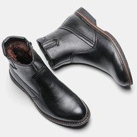 WOTOTEN Marke Herrenstiefel Retro Leder Winterstiefel Für Männer Größe 40-45 Winter Lederstiefel Handgemachte Herrenschuhe # DM5266C1 201215