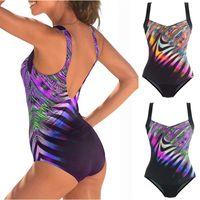 2019 heiße tarnung bikini frauen einteiliges bikini badeanzug sexy backless einteiliger Badeanzuggitter schwimmen wear strand tragen