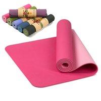 183 * 61 * 0.6 cm Yoga Mat Ev Fitness Egzersiz Pedi Kadın Spor Sağlık Kaymaz Battaniye TPE Konfor Pilates Spor Diz Koruyucu LJ201218