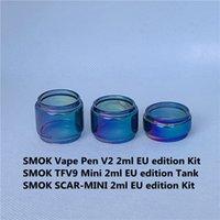 Smok Vape Pen V2 TFV9 Mini Scar-Mini 2ml UE TPD Edition Borsa Kit Sostituzione Rainbow Bulb Bulb Glass Tube Bubble Fatboy Extended 5ml