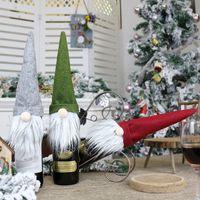 Бутылки вина сумка Безликого Gnome Рождественского подарок сумка украшение вино Стеклянная бутылка Крытого Рождество Decora Рождество украшение мешок вино LLS4