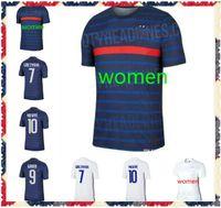 Mulher 2020 Griezmann Mbappe Jersey Kante 2018 Centenary Pogba Camisa de Futebol Maillot de Futebol França Zidane Giroud Matuidi