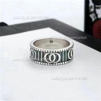 2021 jóias homens / mulheres moda anel de luxo anel casal ouro s925 alta polida anel caixa de presente A1