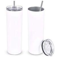 30o 20Oz Sublimationsrohlings-Becher-Kaffeetasse Edelstahl-Thermos-Flaschen-Auto-Tassen mit Deckel
