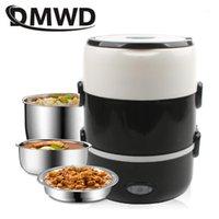 DMWD Mini Cocina de arroz eléctrica Acero inoxidable 2/3 Capas Vapor de vapor Portátil Calefacción térmica Caja de almuerzo Recipiente Warmer1