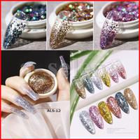 Lentejuelas de arte del arte de las uñas láser irregular fragmento de la estrella Aurora Nails Flakes Decoración de paillette 3D Sinfónica UV Gel Accesorios de manicura