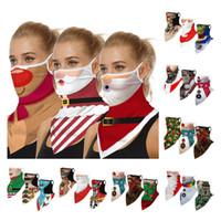 Stampa 3D Maschere per feste di Natale Viso Scudo Scudo Multi-funzione Scarpa Magic Magic Turban Mask Mask Maschera Fascia Bandanas 50pcs T1i3091