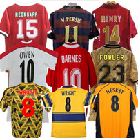 Highbury Futbol Gömlek Chandal Pires Henry Reyes 02 03 Retro Jersey 05 06 98 99 Bergkamp Camisa Adams Persie Maillot 96 97 Galla Maillot