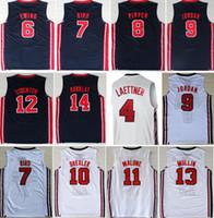 1992 Team Basketball Jersey Traumvogel Michael Patrick Ewing Scottie Pippen Clyde Drexler John Stockton Karl Malone Charles Barkley Johnson