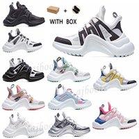 2021 Yeni Moda Gündelik Blok Oklanan Hakiki Deri Baba Ayakkabı Sneakers Ayakkabı Mesh Siyah Nefes Yaylar Platformu Popüler Stylis Sho A8JN #