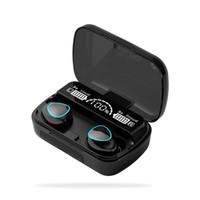 M10 TWS 무선 헤드폰 블루투스 5.0 이어폰 HIFI 스테레오 이어폰 방수 헤드셋 2000mAH 충전 상자 PK F9 M11