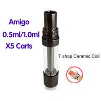 Authentique AMIGO X5 LIBERTY VAPE Cartouches de haute qualité sans plomb Free 0.5ml 1.0ml ECIG CARTÈRES ECIG ECIG ATOMINATEUR D'HUILE EPIRATION EXPÉDITION FAST